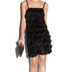 Milly Fringe Dress (Black)